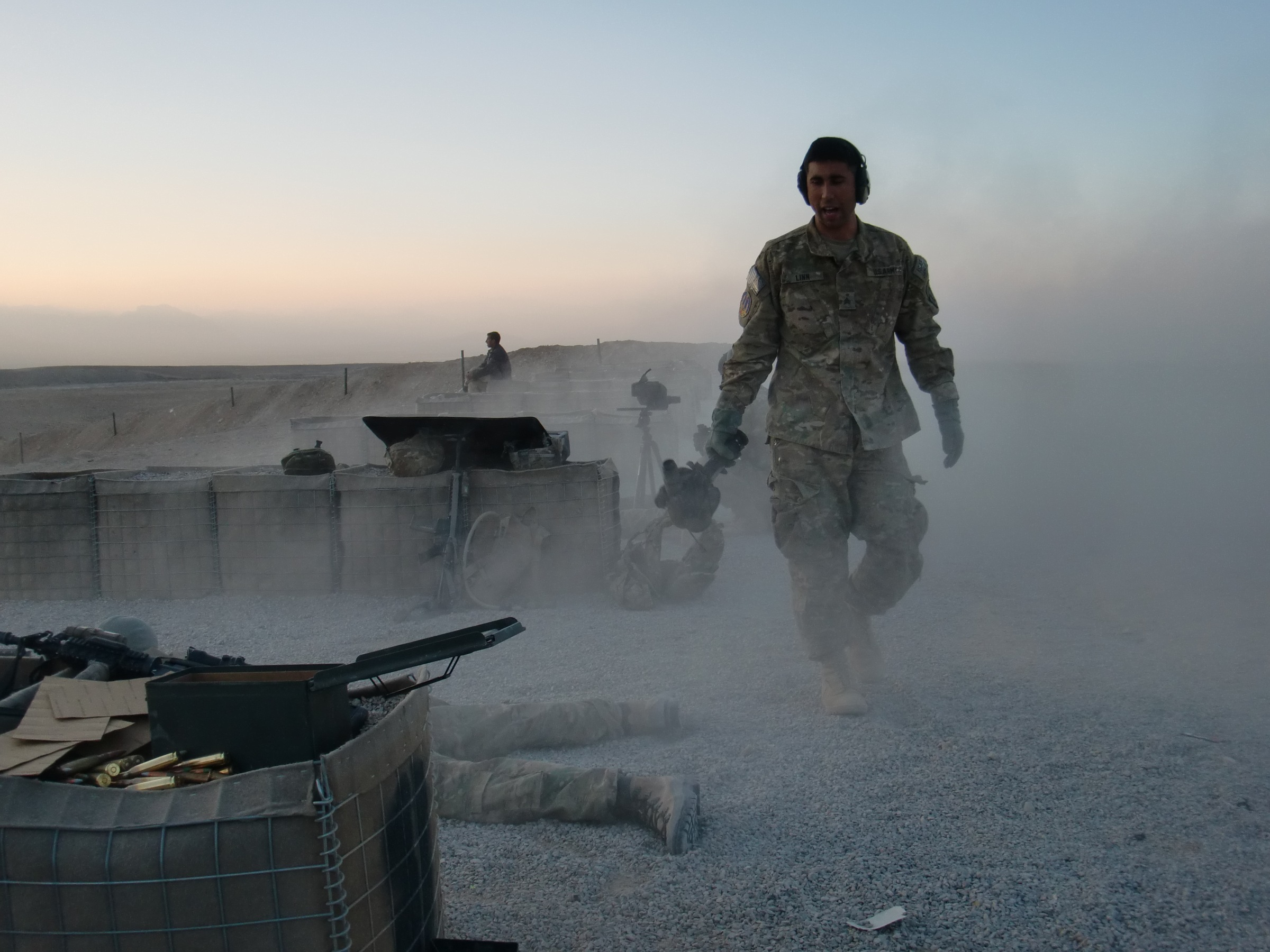 Snipers at the Range in Afghanistan